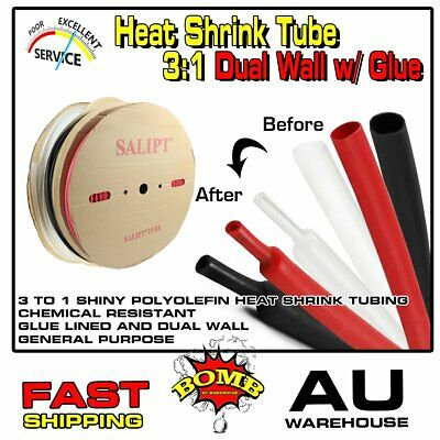 Glue Lined Heat Shrink Tubing Ratio 3:1 Dual Wall Adhesive Wire Heatshrink Tube