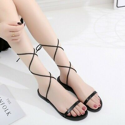c3813b78f Roman Gladiator Womens Patent Leather Cross Strappy Oxford Flats Casual  Sandals