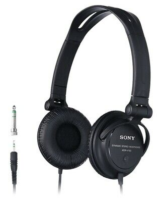 Sony MDR-V150 DJ Style Wired Headphones with Reversible Ear Cups *Black* B+