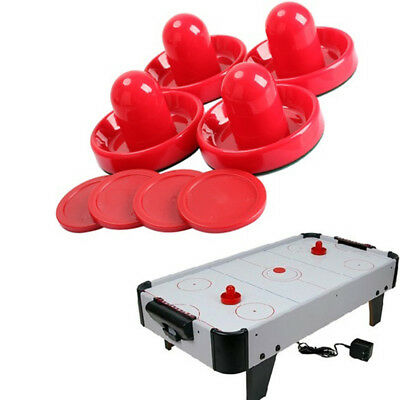 CO_ Air Hockey Set Home Table Goalies Round Pucks Pusher MalletGrip Game Accesso