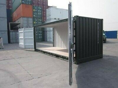 20ft NEW Side Opening Shipping Container DOORS ONLY Full set Brand New - Green