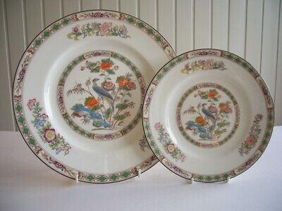 "Wedgwood - Kutani Crane -10.75"" Dinner Plate & 8"" Plate - UNUSED?"