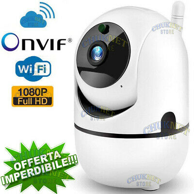 Ip Camera Cam Telecamera Ptz Motorizzata Onvif Wifi Hd 1080P Led Ir Cut Cloud Ip