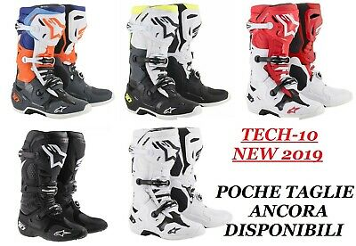 STIVALI TECH 10 ALPINESTARS NEW 2019 MX ENDURO BOOTS tech10