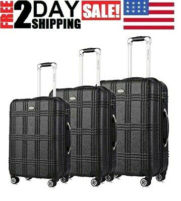 Luggage Set Expandable Premium Carbon Fiber Suitcase 3Pcs TSA Lightweight Spinne