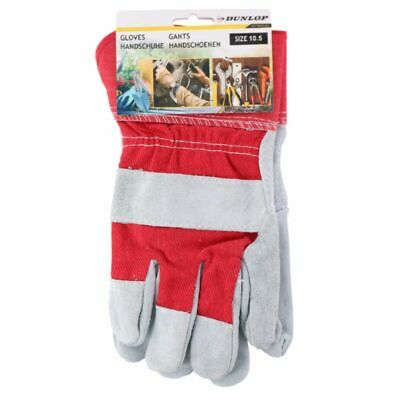 5 10 PAIRS FLEECE LINED LEATHER LORRY DRIVERS WORK GLOVES SAFETY DIY QUALITY