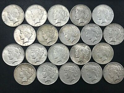 Silver Peace Dollar Lot 20 Average Circulated Mixed Date Coins 90% Silver *O4