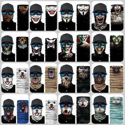 Multi-fun Face Shield Sun Mask Neck Gaiter Balaclava Scarf Outdoor Protect Hats