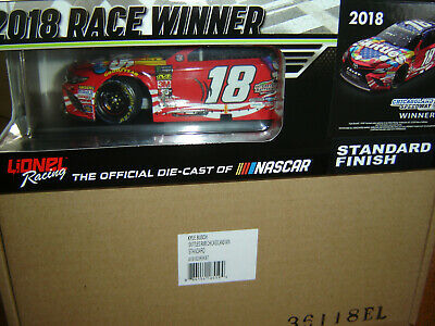 Kyle Busch #18 SKITTLES RWB CHICAGOLAND RACED WIN 2018 Action 1/24th NEW IN PKG