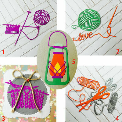 Knitting Metal Cutting Dies Mother's Love Stencil Scrapbooking Cards Embossing