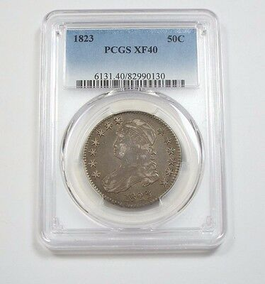 1823 Capped Bust Lettered Edge Half Dollar CERTIFIED PCGS XF 40 Silver 50c