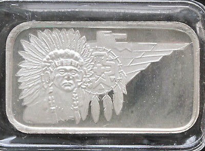 1985 Indian Chief Silver Art Bar ST-12V2 SilverTowne P1152