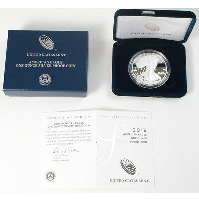 2019-W .999 1 Oz Silver American Eagle Proof Dollar Coin $1 West Point - COA/Box