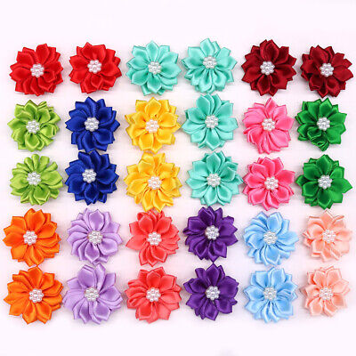 10X Pet Puppy Dog Cat Hair Bows Rubber Bands Petal Flowers Dog Hair Accessories