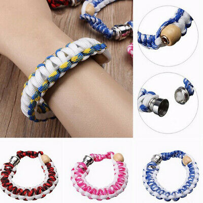 1x Portable Metal Bracelet Smoke Smoking Cigarette Creative Pipe Knit Rope Band