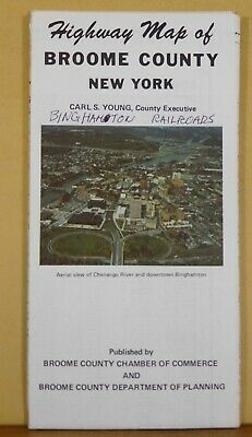Map Highway Map of Broome County New York 1982 24 x 36