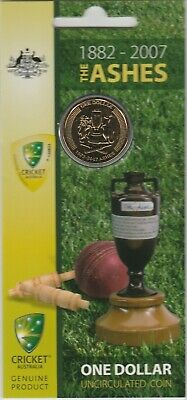 2007 The Ashes carded $1 coin ............(0)