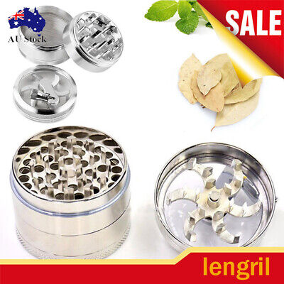 Smoke Grinder Herb Aluminum Hand Crank Herbal Tobacco Grinders 4-layer AU