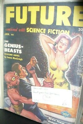 Future Combined With Sci-Fi Stories Us Pulp Magazine January 1951