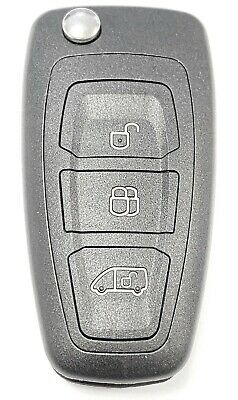 Replacement 3 button flip key case for Ford Transit Custom Tourneo MK8 remote