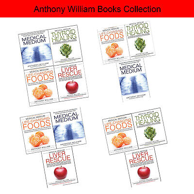 Liver Rescue, Thyroid Heal,Medical Medium Anthony William collection 4 books set