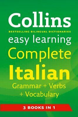 Easy Learning Complete Italian Grammar, Verbs and Vocabulary (3 books in 1) (.