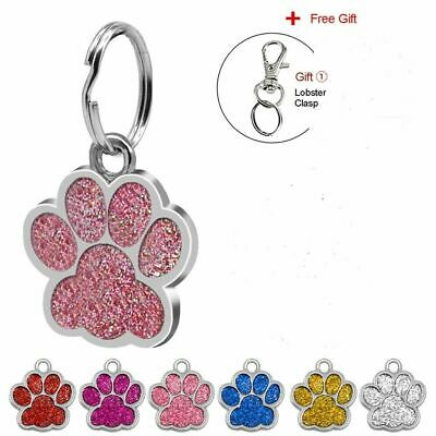 Paw Pet ID Tags Customized IMPACT Engraved Dog & Cat Print Personalized Name Tag