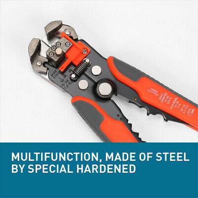 MultiFunction Ratchet Crimping Press Plier Wire Stripper Cutter Tool 10 - 22 AWG