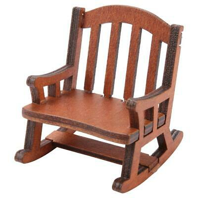 1:12 Scale Wooden Rocking Chair Dolls House Miniature Furniture for Baby Gifts