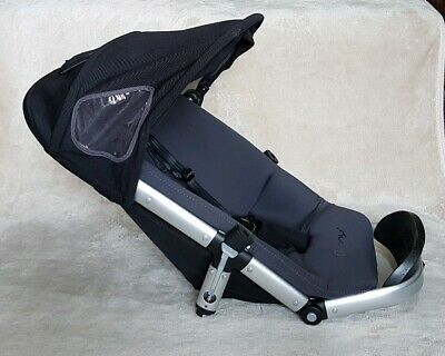 Quinny Buzz Seat Frame Unit Complete wi Straps Hood Black Memory Foam Fabric Pad