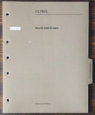 Digital DEC ULTRIX Security Guide For Users 1990