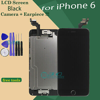 Digitizer Display Black  For Apple iPhone 6 LCD Touch Repair Screen Home Button