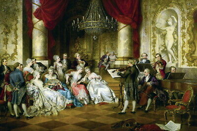 Wall Decor Art Palace Concert Scenes Oil painting Giclee Printed on Canvas P715