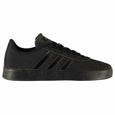 adidas Kids VL Court Nbk Juniors Suede Trainers Lace Up Low Sports Casual Shoes