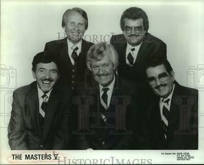 Press Photo Members of The Masters V, Southern Gospel Music quartet. - sap30151