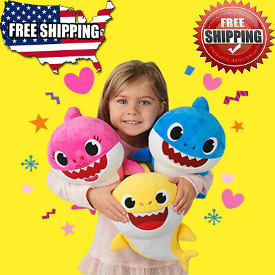 New 2019 Baby Shark Plush Singing Music Doll English Song Toys Plush Toy Gift US