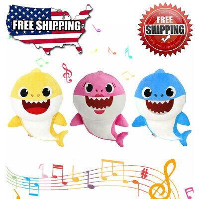 New Plush Baby Shark Doll Toys Singing English Music Song Toy Gift Kids 2019