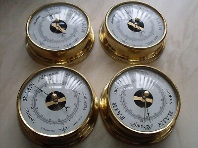 12 boat barometer in brass surround case ( boxed )