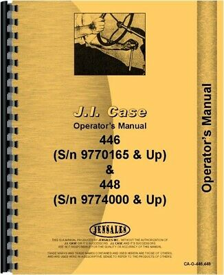 case 446 448 compact lawn garden tractor owners operators manual