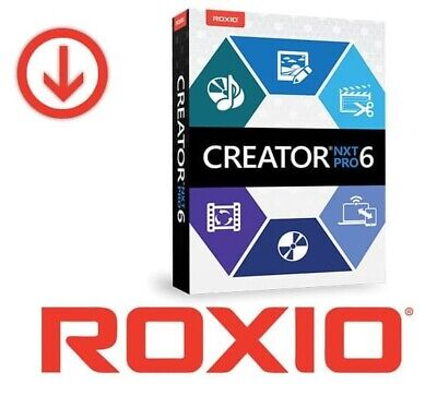 Roxio Creator NXT pro 6 Licence Key-Lifetime Powerful DVD burning-Download 2019