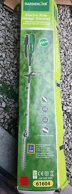 Gardenline Electric Pole Hedge Trimmer 900W Dual Action Blade Rotating Handle