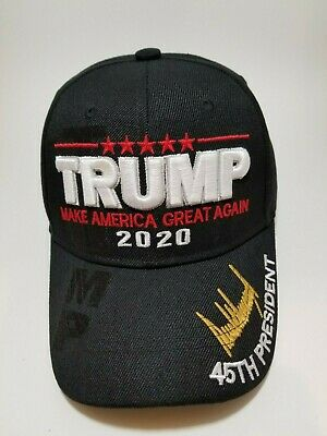 MAKE AMERICA GREAT AGAIN The 45th President Donald Trump 2020 Hat in Black