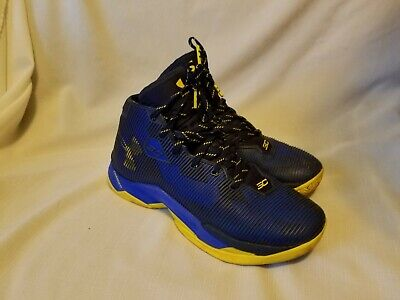 177044f53a82 Under Armour UA Curry 2.5 Basketball Shoes Size 8.5 Blue Yellow 1274425-400