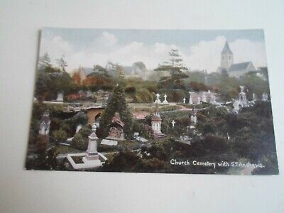 NOTTINGHAM Church Cemetery With St Andrews - Vintage Postcard  §E386