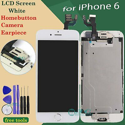 Digitizer Display For Apple iPhone 6 LCD Touch Repair Screen White Home Button