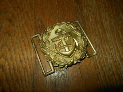 WW2 German Kriegsmarine Schaerpenschnalle - LINE OFFICER'S UNDRESS BELT BUCKLE -