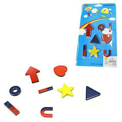 Fridge Magnets Memo Magnet Notice Board, 8 Colourful Fun Assorted Shapes