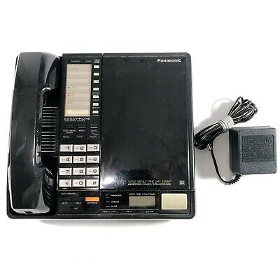 Vintage Panasonic Phone and Answering Machine Easa-Phone Corded KX-T24323 Tape