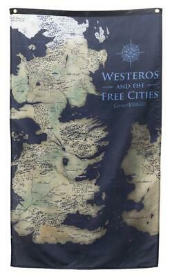 """Calhoun Game of Thrones Wall Banner (30"""" by 50"""") (Westeros Map)"""