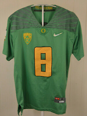 reputable site be8ed 22abf NIKE MIGHTY OREGON Ducks Football Jersey Yellow #8 Marcus ...